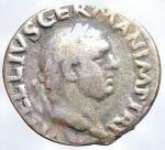 D/ Medaglie - Riproduzione denario di Vitellio. Peso gr. 2,84. Diametro mm. 18,3. Patina.