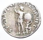 R/ Medaglie - Riproduzione coeva denario di Traiano. Peso gr. 2,85. Diametro mm. 17,5. Patina.