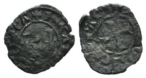 D/ Italy, Sicily, Messina. Carlo I d'Angiò (1266-1285). BI Denaro (16mm, 0.75g). KA. R/ Cross. Spahr 37. Good Fine
