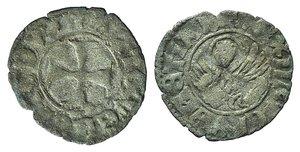 D/ Italy, Venezia. Antonio Venier (1382-1400). BI Tornesello (16mm, 0.61g, 6h) Cross. R/ Winged lion. Paolucci 826. Good Fine