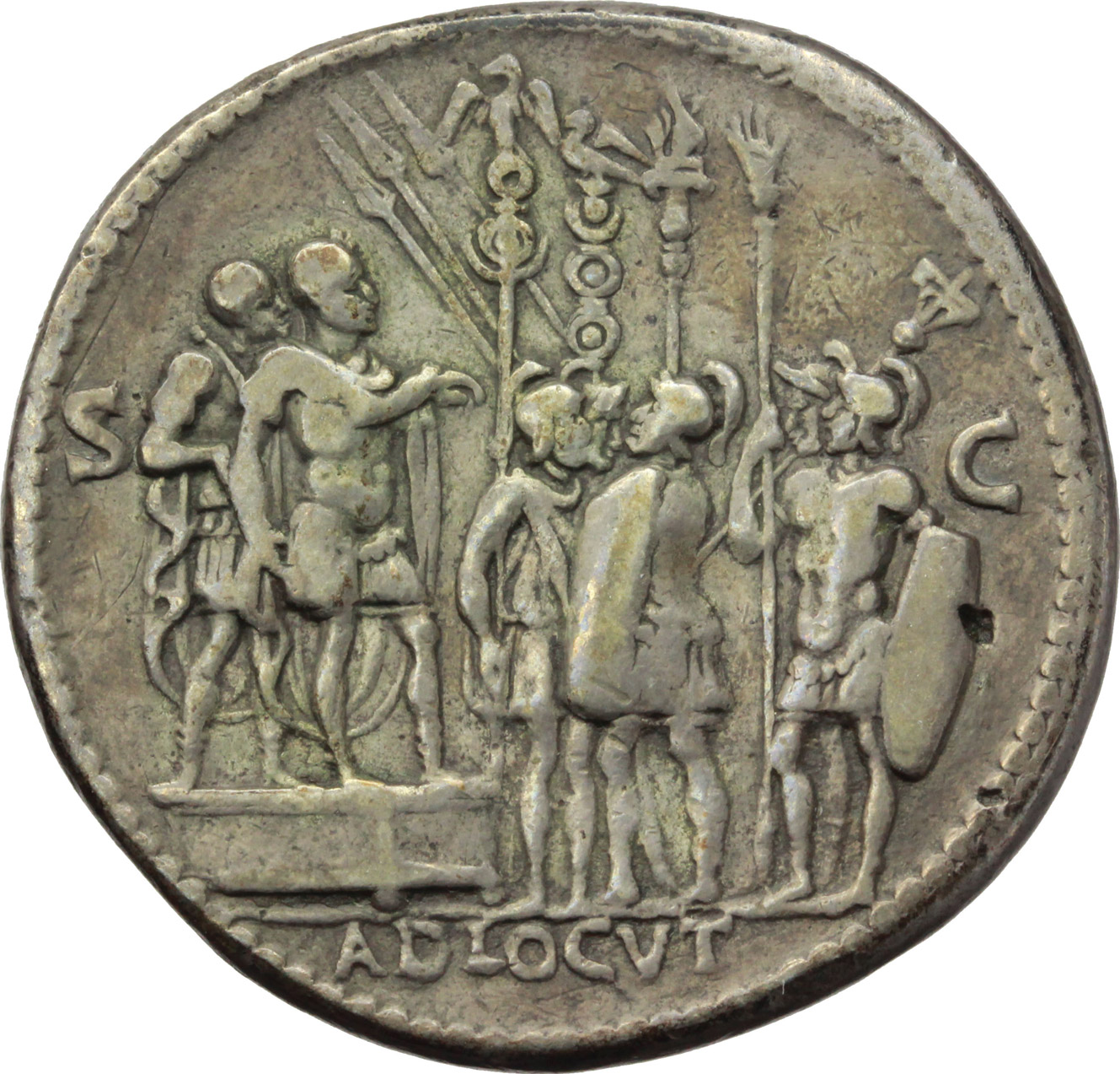 Reverse image of coin 302