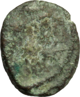 D/ Vandals. Gunthamund (484-496 AD)?.  AE Nummus, Carthage mint. Obv. Diademed, draped and cuirassed bust right. Rev. Palm tree with fruit. Wroth 26, 68ff. AE. g. 0.37  mm. 8.50    About VF.