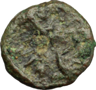 D/ Justinian I (527-565).  AE Nummus. Carthage mint. Struck 539-543. Obv. Diademed, draped and cuirassed bust right. Rev. VOT/ XIII in two lines within wreath. DOC 302. Sear 278. AE. g. 0.79  mm. 9.00    VF.