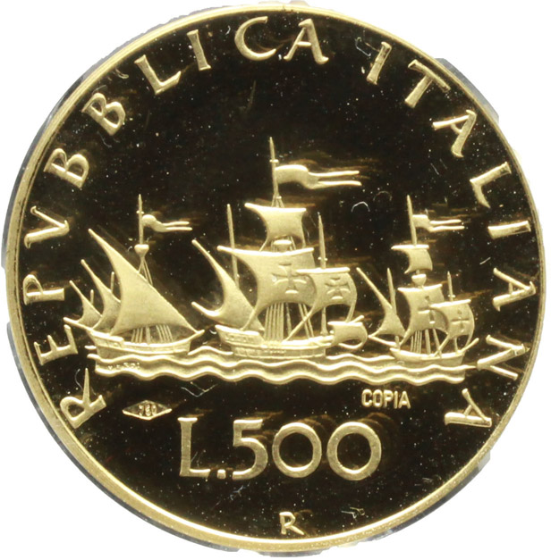 Reverse image of coin 676
