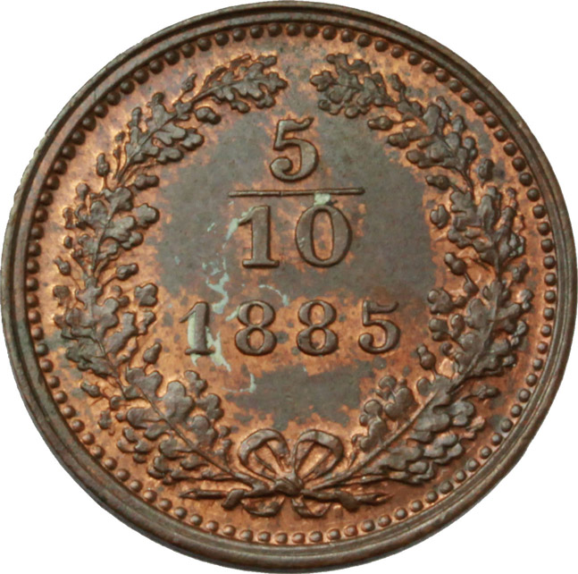 Reverse image of coin 694