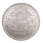 R/ Monete Estere - Austria. 1 Corona 1916. Ag. qFDC-FDC. Fondi lucenti.