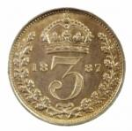 D/ Monete Estere. Gran Bretagna. 3 Pence 1887. Ag. SPL.g.a