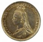 R/ Monete Estere. Gran Bretagna. 3 Pence 1887. Ag. SPL.g.a