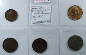 D/ Monete Estere. Gran Bretagna. Lotto di 5 monete. Mediamente BB\BB+.g.f