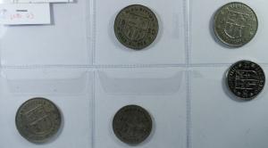D/ Monete Estere. Mauritius. Lotto di 5 Monete. Mediamente qSPL.g.f.