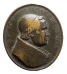 D/ Medaglie - Pio IX. Medaglia Ovale 1846. in Ae. D/ PIVS IX PONT MAX ELECTIS 16 JUN 1846. R/ JUBILAEUS ANNO. Peso gr. 12,92. Diametro mm. 27,66 x 31,29. BB.