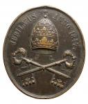 R/ Medaglie - Pio IX. Medaglia Ovale 1846. in Ae. D/ PIVS IX PONT MAX ELECTIS 16 JUN 1846. R/ JUBILAEUS ANNO. Peso gr. 12,92. Diametro mm. 27,66 x 31,29. BB.
