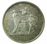 R/ Medaglie. Francia. Luigi XV. 1747. COMMUNE PERENNITATIS VOTUM. BB+.
