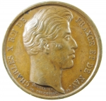 D/ Medaglie. Francia. Carlo X. Per la visita ai CHAMPS de ST. OMER dal 9 al 16 Settembre 1827. SPL.