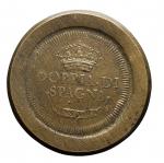 D/ Varie -Peso monetale della doppia di Spagna. AE. Peso gr. 26,95. Diametro mm. 33,54. Ottime condizioni.