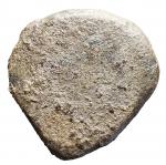 R/ Repubblica Romana -Elemento a forma di conchiglia.Ae. Peso gr. 46,18. Buone condizioni.