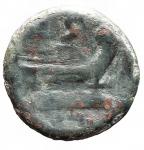 R/ Repubblica Romana -Serie sestantale. dopo il 211 a.C.Semisse. AE. D/ Testa di Saturno a destra.R/ Prua a destra.Cr. 56/3. Peso gr. 16,40. qBB.