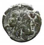 D/ Repubblica Romana -Serie sestantale. Dopo il 211 a.C.Semisse. AE. D/ Testa di Saturno a destra.R/ Prua a destra.Cr. 56/3. Peso gr. 13.1. BB.