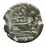 R/ Repubblica Romana -Serie sestantale. Dopo il 211 a.C.Semisse. AE. D/ Testa di Saturno a destra.R/ Prua a destra.Cr. 56/3. Peso gr. 13.1. BB.