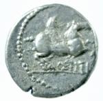 R/ Repubblica Romana. Gens Titia. Quintus Titius. 90 a.C. Quinario. D/ Busto della Vittoria verso destra. R/ Q.TITI (Quintus Titius) Pegaso in volo verso destra. Cr.341/3. Peso 2,15 gr. Diametro 15,38 mm. BB+.