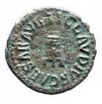 D/ Impero Romano - Claudio. 41-54 d.C. Quadrante. AE. D/ Modio. R/ PON M TR P IMP COS DES II attorno a grande SC. Peso gr 3,01. Diametro mm. 17,87. Bel BB+. Patina verde.