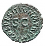 R/ Impero Romano - Claudio. 41-54 d.C. Quadrante. AE. D/ Modio. R/ PON M TR P IMP COS DES II attorno a grande SC. Peso gr 3,01. Diametro mm. 17,87. Bel BB+. Patina verde.