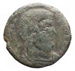 D/ Impero Romano -Magnenzio. 350-353 d.C.AE. R/ VICTORIAE DD NN AVG ET CAES. Due Vittorie tengono corona con iscrizione VOT / V / MVLT / X. Peso gr. 5,29. Diametro mm. 21,6. MB/qBB. Patina verde.