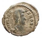 D/ Impero Romano - Giuliano II l'Apostata. 360-363 d.C.Follis.AE. D/ DN IVLIANVS NOB C. Busto a destra. R/ SPES REIPVBLICE L' Imperatore con globo verso sinistra. Peso 1,81 gr. Diametro 19,41 mm.BB+. Patina verde.R.