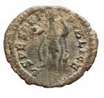 R/ Impero Romano - Giuliano II l'Apostata. 360-363 d.C.Follis.AE. D/ DN IVLIANVS NOB C. Busto a destra. R/ SPES REIPVBLICE L' Imperatore con globo verso sinistra. Peso 1,81 gr. Diametro 19,41 mm.BB+. Patina verde.R.