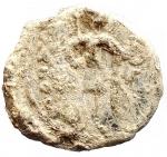 D/ Bizantini - Sigillo in piombo. D/ San Michele ?. R/ Legenda su 4 righe. Peso gr. 4,51. Diametro mm 17,4. Buona conservazione e bella patina.