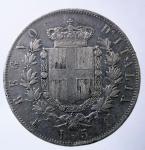 R/ Casa Savoia. Vittorio Emanuele II. 1861-1878. 5 lire 1874, AG. M. Pag. 498. Mont. 182. BB.