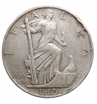 D/ Casa Savoia - Vittorio Emanuele III. 1900-1943. 10 Lire 1936. AR. Pagani 700. MIR 1133a. BB-SPL. Colpi al bordo.