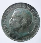 D/ Casa Savoia. Vittorio Emanuele III. 2 lire 1911 Cinquantenario. Gig 100. BB