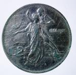 R/ Casa Savoia. Vittorio Emanuele III. 2 lire 1911 Cinquantenario. Gig 100. BB