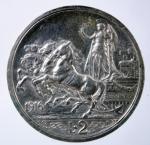 R/ Casa Savoia. Vittorio Emanuele III. 2 Lire 1916 Quadriga Briosa. Ag. Peso 10 gr. Diametro 27 mm. qSPL.