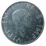 D/ Casa Savoia. Vittorio Emanuele III. 2 lire 1943 XXI. Magnetica.Ni. qSPL. R.
