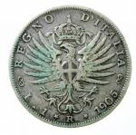 R/ Casa Savoia. Vittorio Emanuele III. 1 Lira 1905. Ag. Gig.129. BB\BB+.