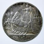 R/ Casa Savoia. Vittorio Emanuele III. 1 lira 1913. Quadriga veloce. BB+.