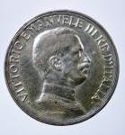 D/ Casa Savoia. Vittorio Emanuele III. 1 lira 1917 Quadriga briosa. Ag. Gig 139. SPL.