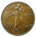 R/ Casa Savoia. Vittorio Emanuele III. 10 Centesimi del Cinquantenario 1911. Pagani 863. peso 10,00 gr. Diametro 30 mm. BB.
