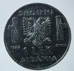R/ Casa Savoia. Vittorio Emanuele III. Albania. 1 Lek 1939. Magnetico. SPL. NC.