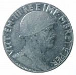 D/ Casa Savoia. Vittorio Emanuele III. Albania. 0,50 Lek 1940 anno XVIII. Magnetico. Ac. BB+/qSPL.