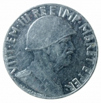 D/ Casa Savoia. Vittorio Emanuele III. Albania. 0,20 Lek 1939 anno XVIII. Antimagnetica. SPL