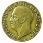 R/ Casa Savoia. Vittorio Emanuele III. Albania. 1900-1943. 0,10 lek 1940. Pag. 1005. Mont. 507. BB.