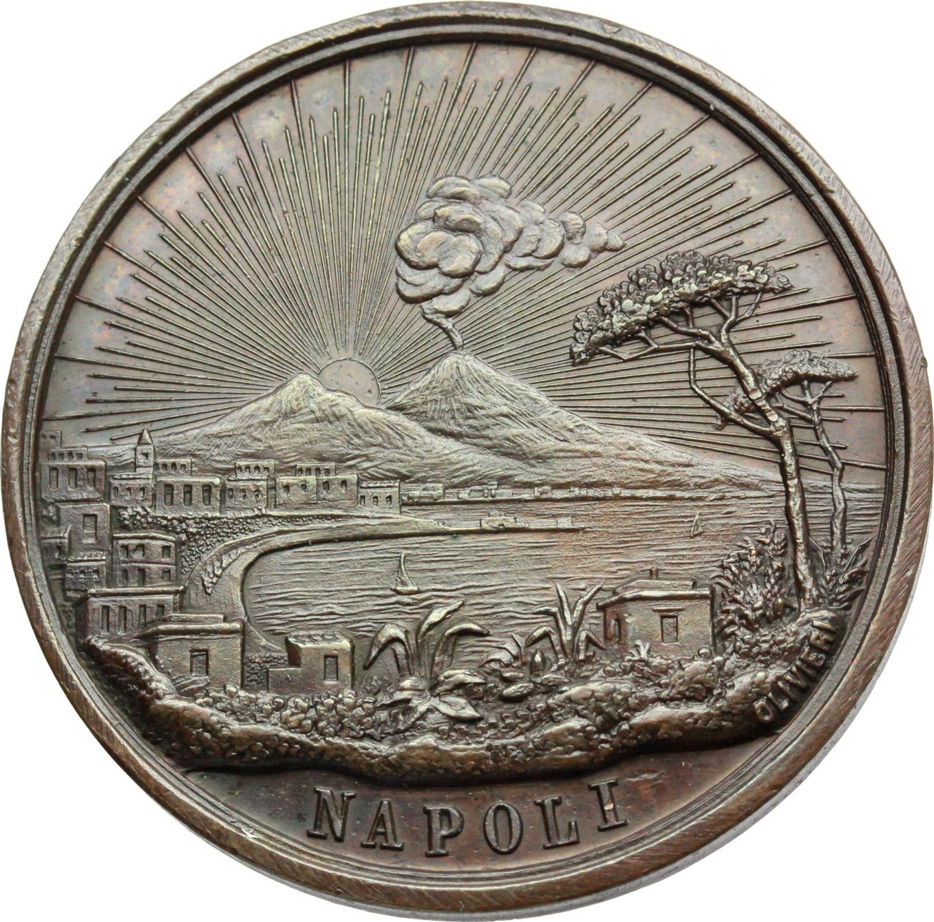 D/  Medaglia Comizio Regionale dei Veterani 1848-49 del Napolitano. IV congresso.     AE.   mm. 37.00 Inc. G. Olivieri.   SPL.