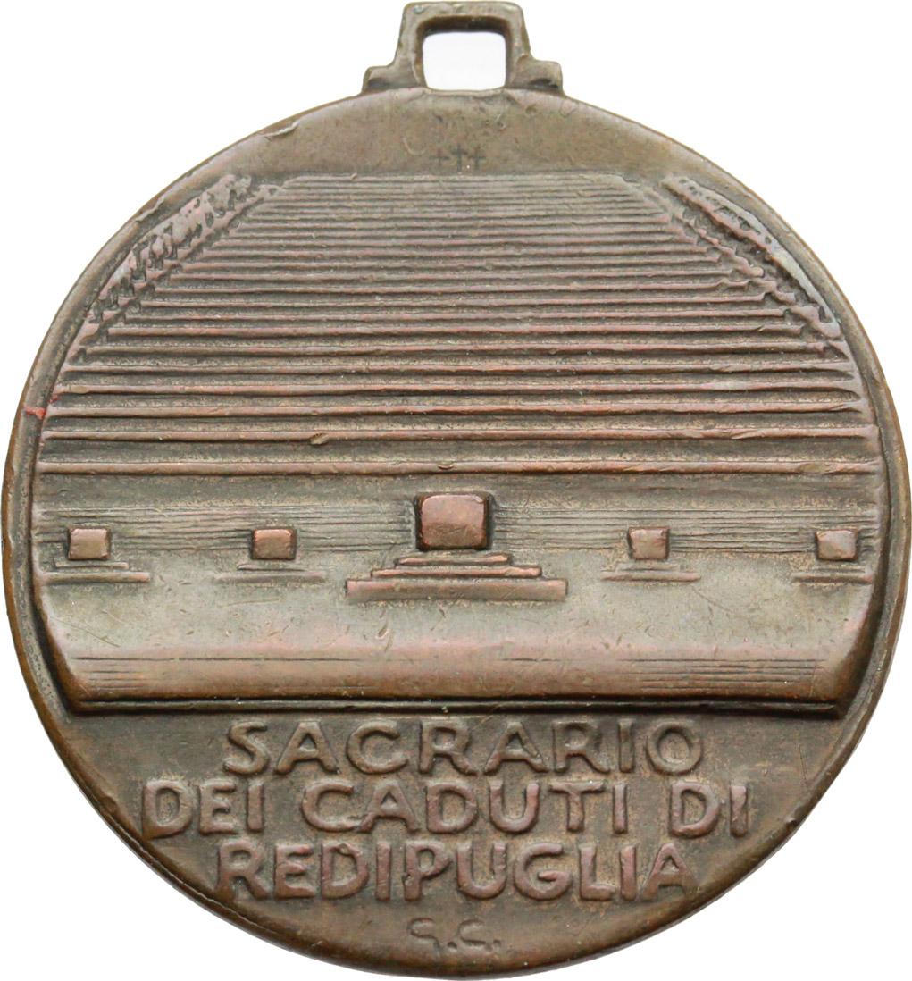 D/  Medaglia Sacrario dei caduti di Re di Puglia, 1915-1918.     AE.      BB.
