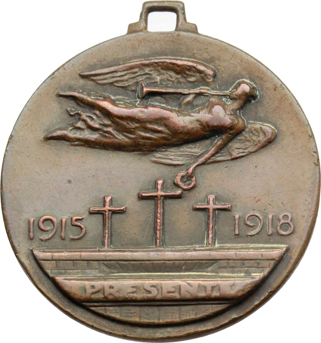 R/  Medaglia Sacrario dei caduti di Re di Puglia, 1915-1918.     AE.      BB.