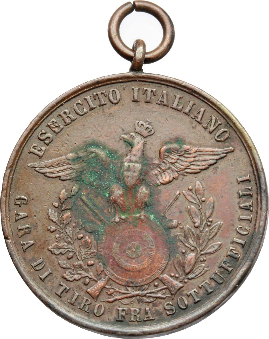R/ Vittorio Emanuele III (1900-1943). Medaglia Esercito Italiano, Gara di tiro tra sottuficiali.     AE.   mm. 30.50    qBB.