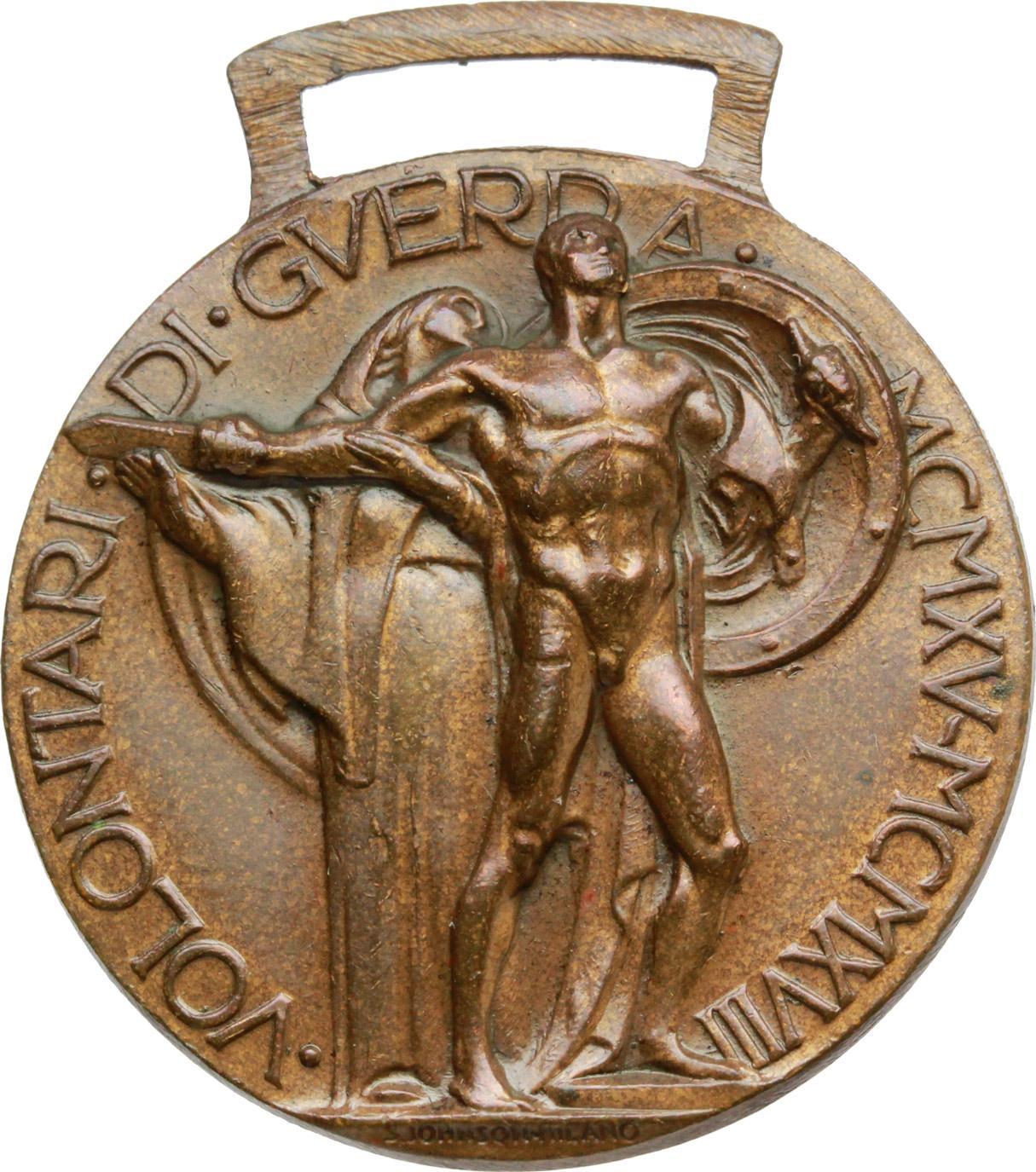 R/  Distintivo d'onore  per  gli ex irredenti italiani volontari della guerra MCMXV-MCMXVIII.    Brambilla p. 866. AE.   mm. 32.00 Inc. Morbiducci.   SPL.