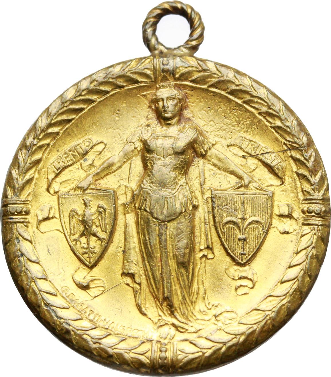D/  Medaglia Milano riconoscente Natale 1918.     AE dorato.   mm. 31.00    BB.